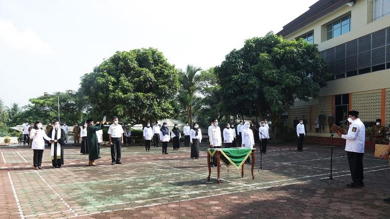 Lantik 20 Pejabat Baru Dinkes Pengganti yang Mundur, Gubernur Banten: Jangan Main-Main dengan Saya!