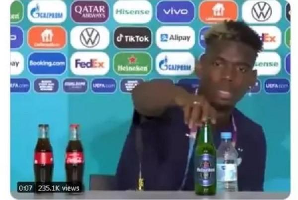 Tiru Aksi Christiano Ronaldo, Paul Pogba Malah Bikin Saham Heineken Naik