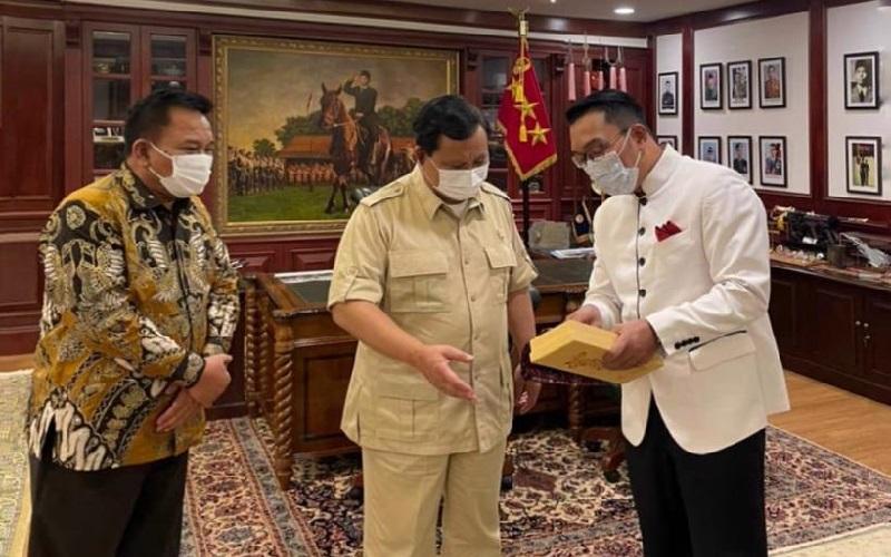 Ridwan Kamil Bertemu Prabowo Subianto di Ruang Kerja, Ini yang Mereka Bahas
