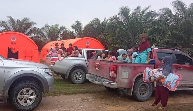 532 Pengungsi Gas Beracun di Aceh Timur Dipulangkan