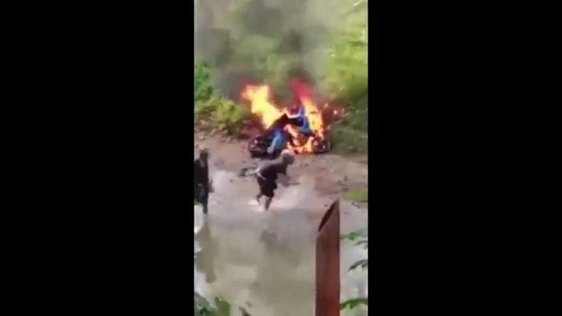 Viral, 4 Motor Milik Warga Baduy Dibakar karena Langgar Adat