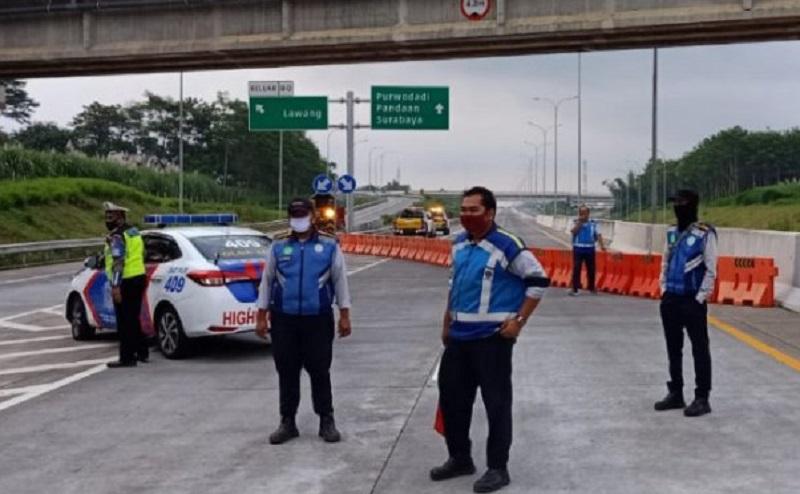 PT Jasa Marga Lakukan Penyekatan di Tol Pandaan-Malang selama PPKM Darurat