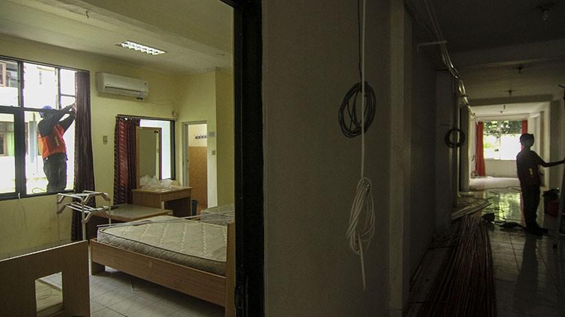 Begini Persiapan Asrama Haji Pondok Gede Menjadi RS Darurat Covid-19