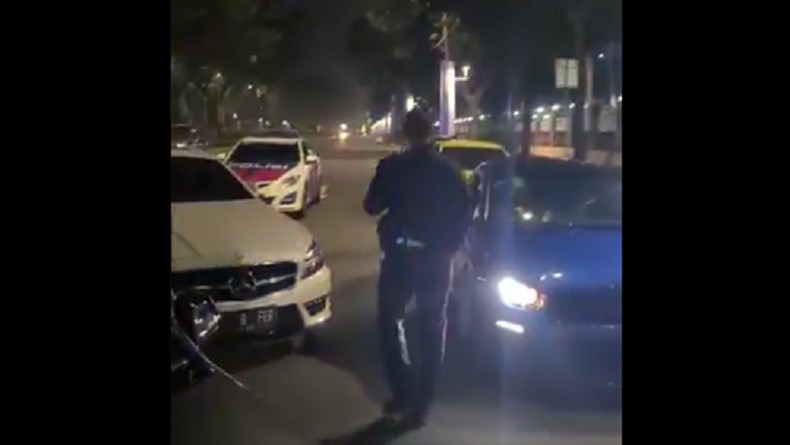 Belasan Mobil Terjaring Razia Balap Liar di Senayan, Sembilan Ditilang Dua Ditahan