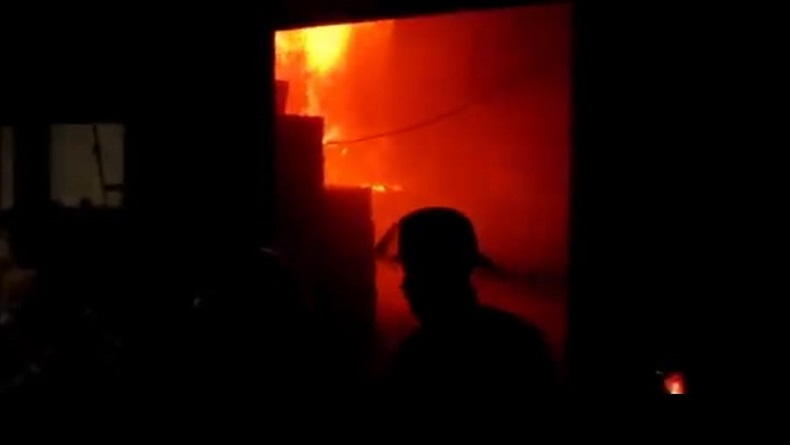 Pabrik Sepeda di Bacip Kota Bandung Ludes Terbakar