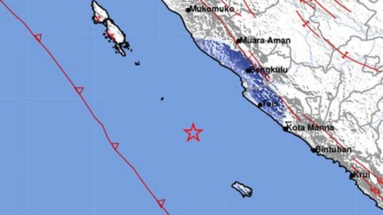 Gempa Terkini M4,7 Guncang Enggano, Getaran hingga ke Bengkulu