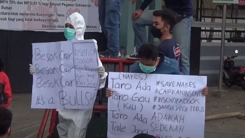 Demo Nakes Insentif 8 Bulan Belum Cair di DPRD Sulsel: Kami Lelah dengan Janji