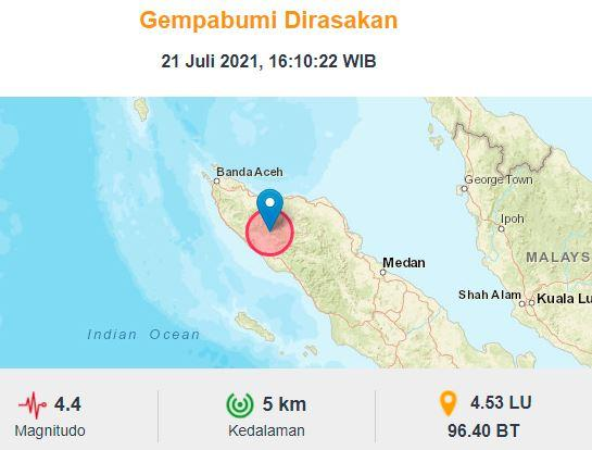 Gempa Terkini M 4 Guncang Nagan Raya Aceh, BMKG: Hati-Hati Gempa Susulan