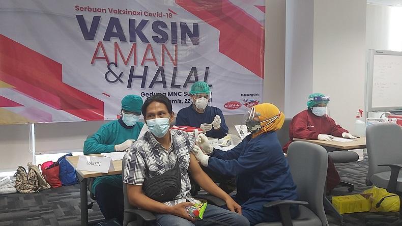 Ikut Program Vaksinasi dari MNC Group dan Kodam V Brawijaya, Karyawan Ini Mengaku Lega