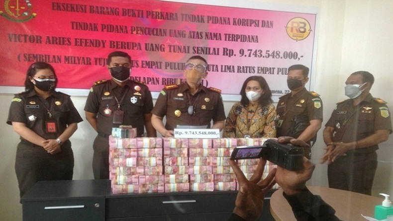 Kejari Jayawijaya Eksekusi Uang Rp9,7 Miliar Kasus Korupsi Dana Desa