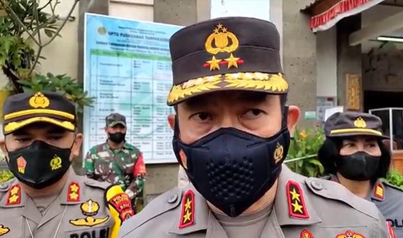 Kapolda Bali Irjen Putu Jayan Danu Putra Cek Tracing Kasus Covid di Gianyar