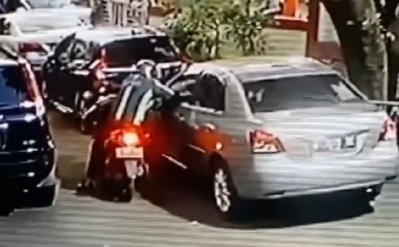 Pencurian Spion Mobil Kembali Terjadi di Tebet, Pelakunya Oknum Berseragam Ojol