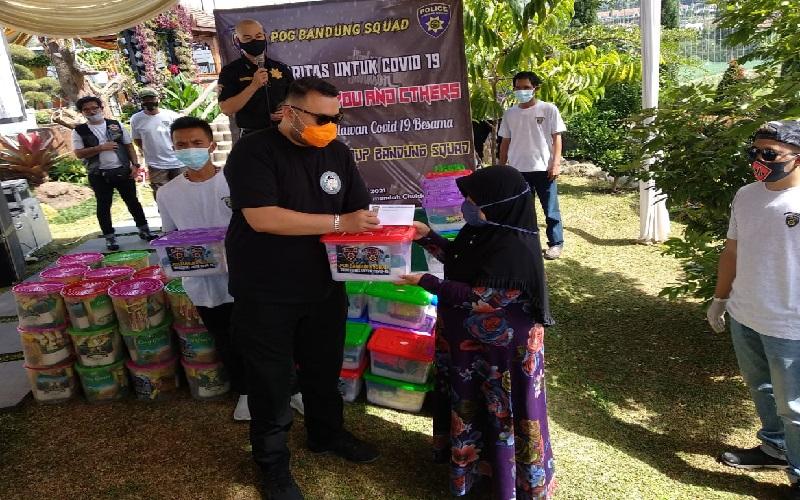 Ringankan Beban Masyarakat, Komunitas Motor Police Gelar Baksos di Pelosok Ciwidey