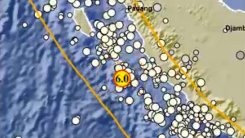 Gempa Terkini Magnitudo 6,0 Goyang Mukomuko
