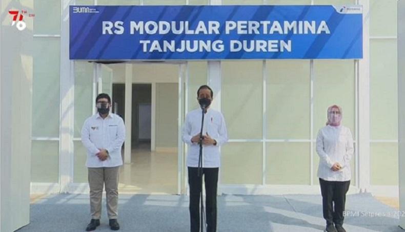 Jokowi : Keterisian BOR di RS Wisma Atlet Turun Jadi 25 Persen