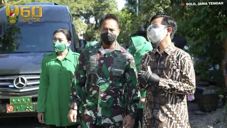 Kunjungi Solo, KSAD Jenderal Andika Kaget saat Melihat Anak Kecil Terpapar Covid-19