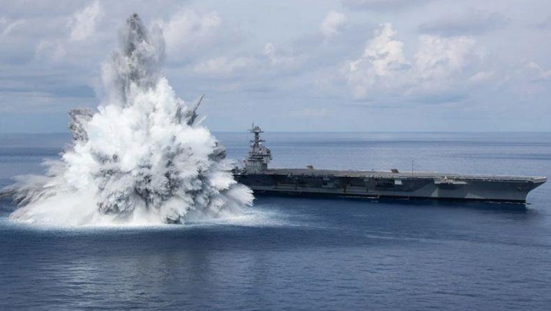 AS Sukses Uji Ledakan Kapal Induk USS Gerald R Ford, Pesan bagi China dan Rusia