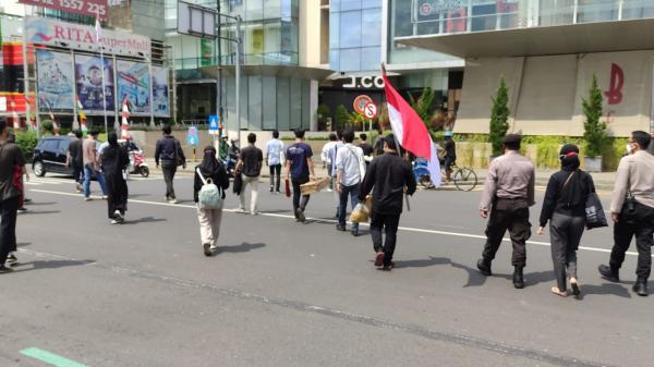 Baru Persiapan  Demo, Puluhan Mahasiswa di Purwokerto Dibubarkan Polisi