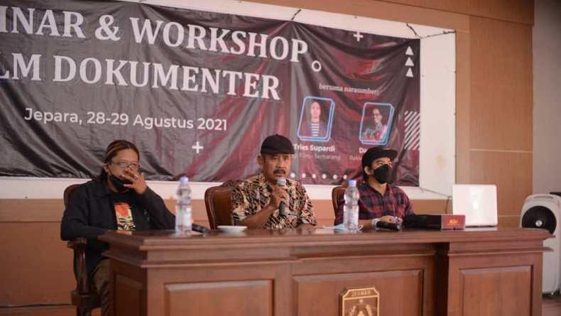 Belasan Sineas Muda Jepara Belajar Produksi Film Dokumenter