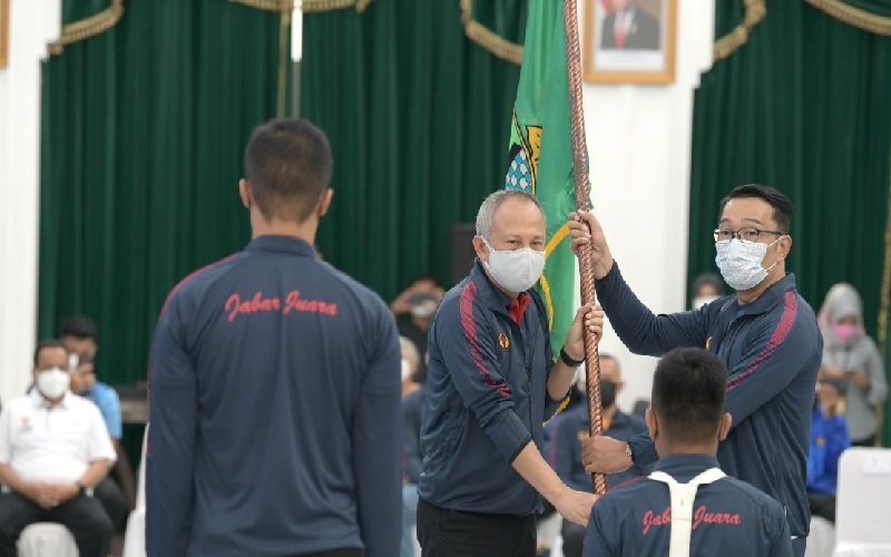 Lepas Kontingen PON, Ridwan Kamil: Para Atlet Bawa Misi Budaya, Jabar Sahabat Papua