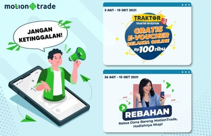 Beli Saham & Reksa Dana di MotionTrade, Gratis e-Voucher Jutaan Rupiah, Cek Caranya di Sini!
