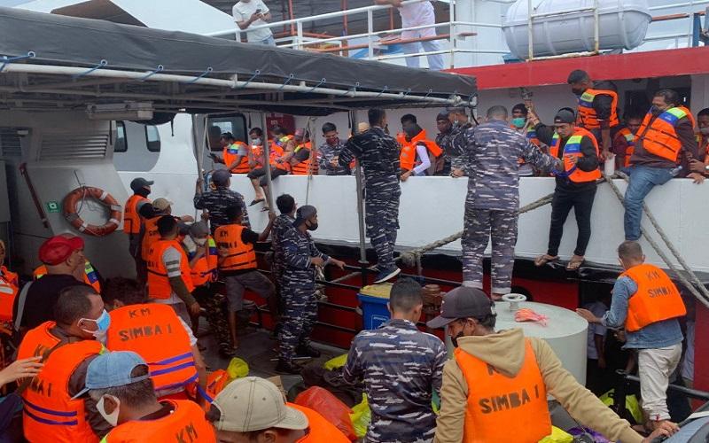 115 Penumpang KM Simba-1 Terkatung-katung di Pulau Mangoli Dievakuasi