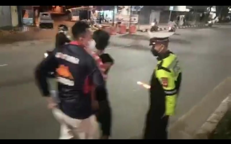 Razia di Jalan Sudirman Palembang, Polisi Angkut Ratusan Motor Pakai Knalpot Brong