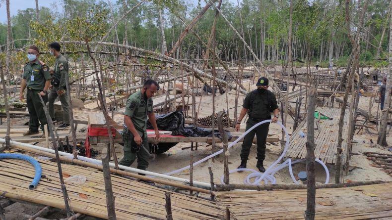 Diduga Bocor, Penertiban Tambang Ilegal di Hutan Mangrove Belo Laut Sepi