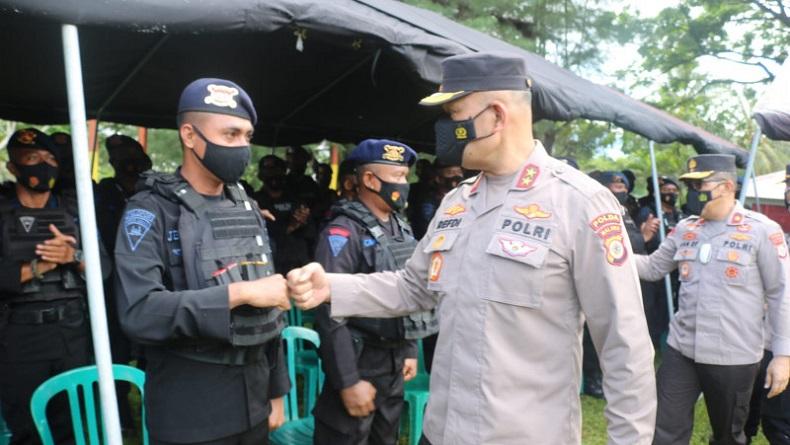 Kapolda Maluku Bekali Pasukan Brimob yang Akan Dikirim ke Papua