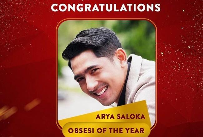Selamat! Arya Saloka Raih Penghargaan Selebriti Obsesi Of The Year 2021