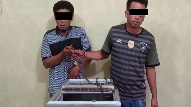 Curi Kotak Amal Masjid Al-Ittihad Binjai, 2 Pemuda Ditangkap Polisi
