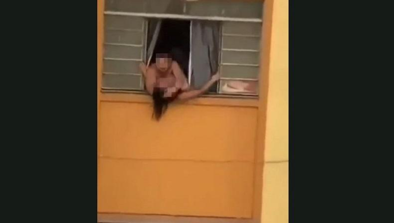 Video Perempuan Hamil Hendak Kabur Lewat Jendela Apartemen Viral, Alasannya Bikin Miris