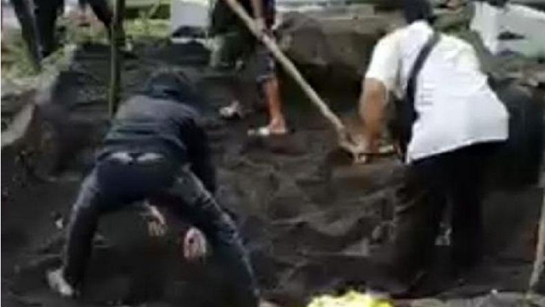 Viral Pendeta di Bitung Bongkar Ulang Kuburan Istri Diduga Meninggal Covid-19