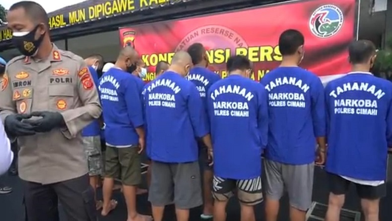 Pengedar Narkoba Ditangkap di Cimahi dan KBB, Polisi Sita 1 Kg Ganja