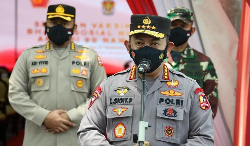 Kapolri: Serbuan Vaksinasi AKABRI 1998 jadi Wujud Sinergitas TNI-Polri Tekan Covid-19
