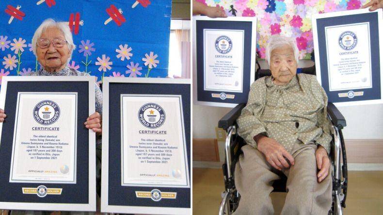 Perkenalkan Umeno dan Koume, Manusia Kembar Tertua di Dunia Berusia 107 Tahun