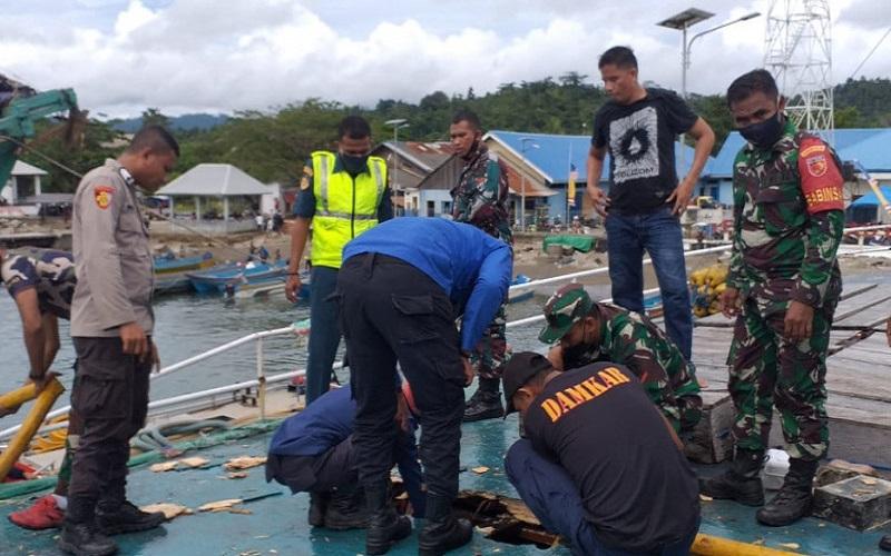 KM Fungka Permata VII Terbakar di Pelabuhan Sanana, Diduga Korsleting Listrik