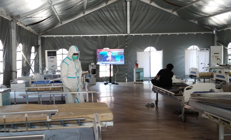 Pasien Covid-19 di RS Lapangan Indrapura Surabaya Tinggal 1 Orang