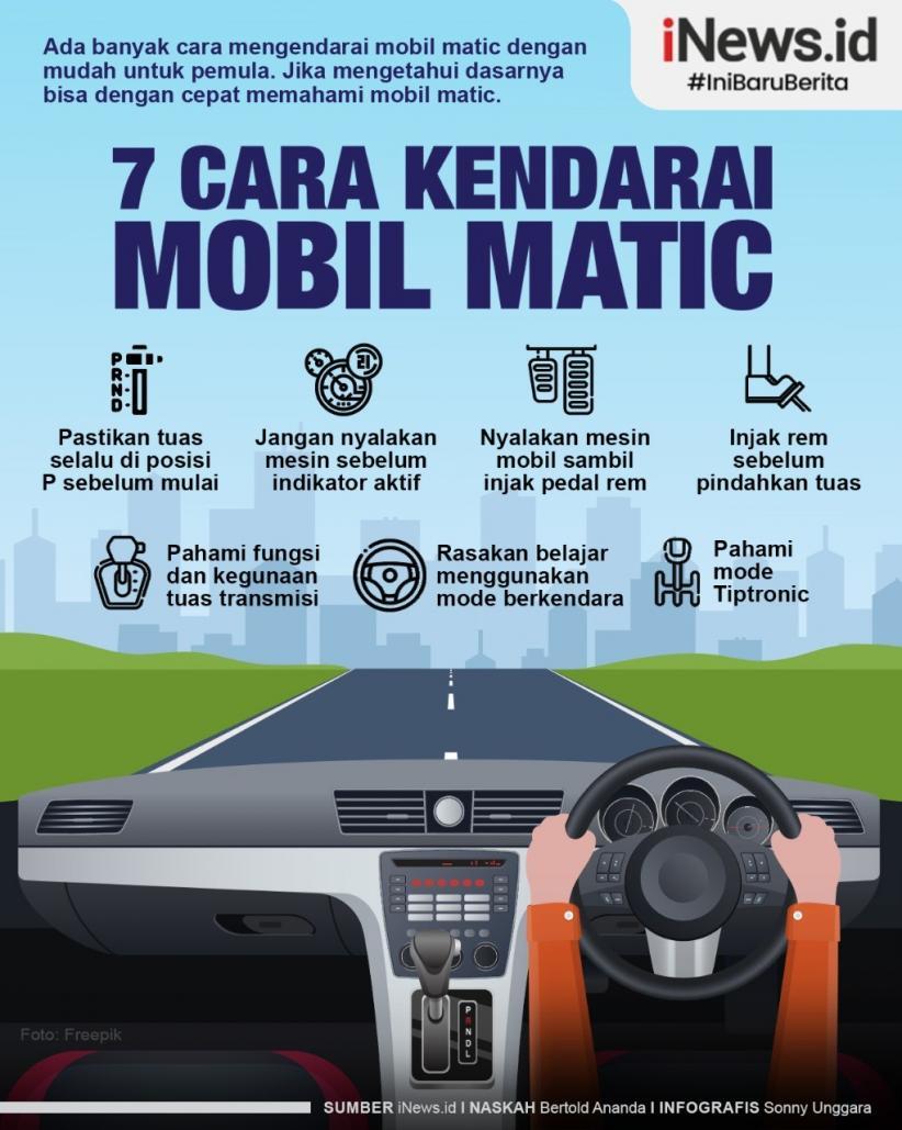 Infografis Cara Mengendarai Mobil Matic