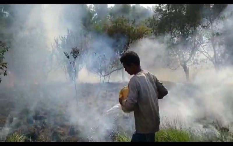 Karhutla Meningkat di Ogan Ilir, Helikopter Water Bombing Dikerahkan