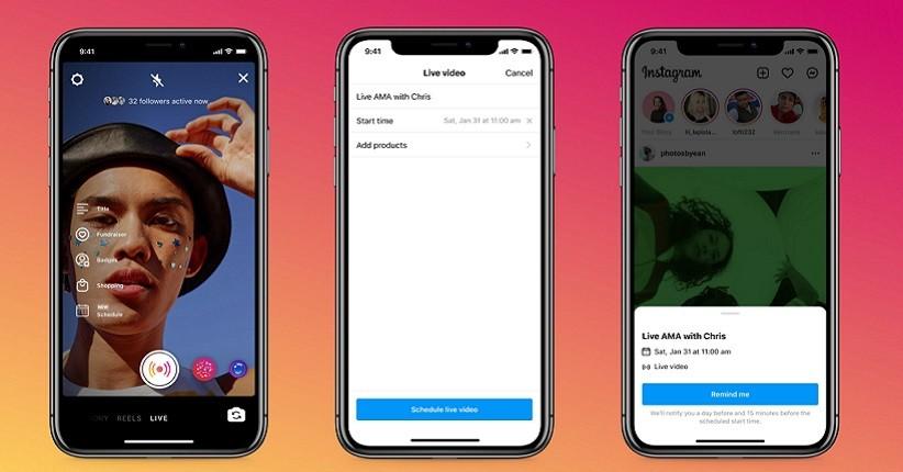 Pengguna Instagram Bakal Bisa Jadwalkan Live Video hingga 90 Hari Sebelumnya