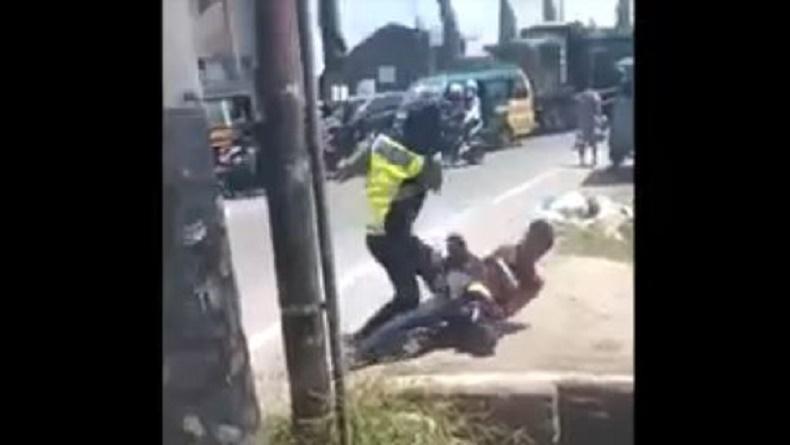 Viral Oknum Polisi di Deliserdang Pukuli Warga di Pinggir Jalan, Ibu Korban Histeris