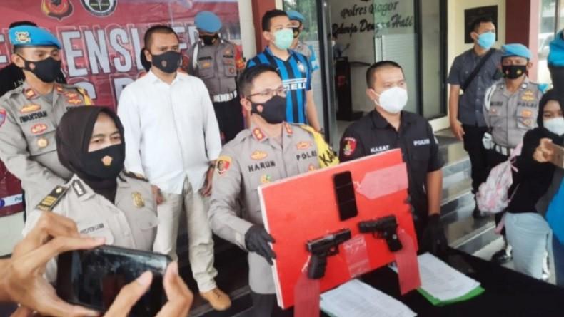 Polisi Tangkap Penodong Pistol kepada Kurir Online Shop di Bogor
