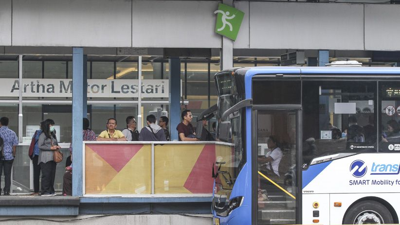 Kapasitas Angkut Transportasi Massal di Jakarta Dikurangi 50 Persen saat PSBB