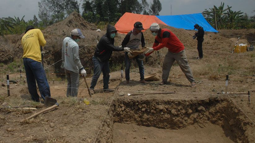 Arkeolog Temukan Kerangka Rumah Mataram Kuno Abad IX Masehi