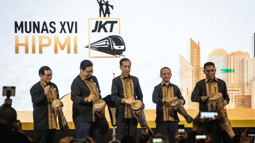 Presiden Jokowi Buka Munas HIPMI 2019