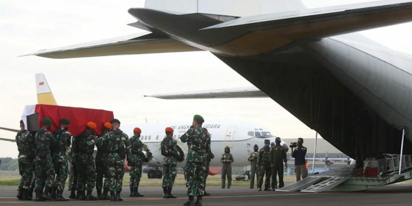 Panglima TNI Pimpin Upacara Pelepasan Jenazah Pelda Anumerta Rama Wahyudi